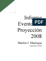 Informe Eventos Proyeccion 2008