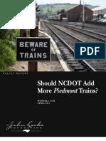 Should NCDOT Add More Piedmont Trains?
