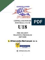 Cal Sheils Training Program