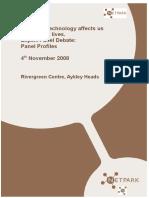 Panel Profiles Nanotechnology Debate November