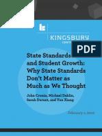 Kingsbury Report State Standards