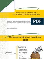 slides trabalho técnicas de comunicação escrita