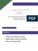 Sampling Theory 101