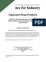 FDA Guildance for Industry Liposome Drug
