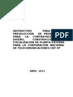 Instructivo Planta Externa Abril 2011-2