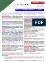 Comunicado nº 3 - (27/04/2011)