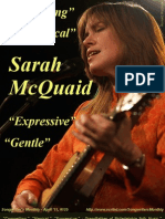 Songwriter's Monthly, April '11, #135 - Sarah McQuaid