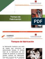 TEMA Nº03 TIEMPOS FABRICACION Y COSTOS