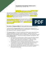 Template Evaluation Report for Sensory Profile Data1