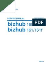 Bizhub 160 160f 161 161f Field Service