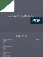 MRI Protocol.