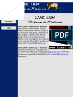 Dictionar Medicina CAVE LION