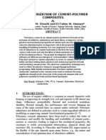 Characterization of Cement-polymer Composites