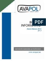Boletín nº 7 (Enero-Marzo 2011)