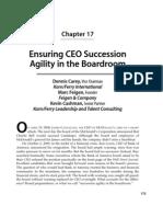 Ensuring CEO Succession