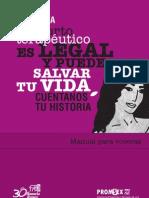 Manual para voceras. Campaña el Aborto Terapéutico es Legal y puede salvar tu vida.