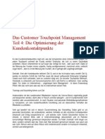 Das Customer Touchpoint Management Teil 4