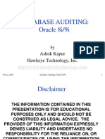 Database Auditing