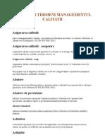 dICTIONAR TERMENI MANAGEMNETUL CALITATII, ISO 9001:2000