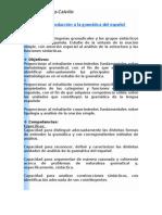 Introducción a la gramática del español.