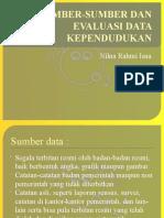 Sumber-sumber Dan Evaluasi Data Kependudukan