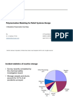 Polymerization Modeling for Relief Systems Design
