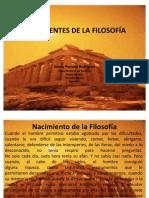 ANTECEDENTES DE LA FILOSOFÍA