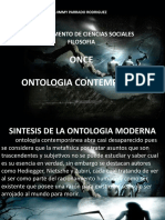 ONTOLOGIA CONTEMPORANEA- Filosofia Once San Martin de los Llanos Meta