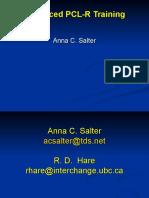 PCL-R II Advanced PCL-R Training