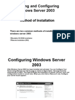 Installing and Configuring Windows Server 2003