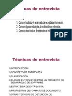 TECNICAS DE ENTREVISTA