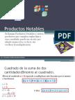 Productos y Cocientes Notables