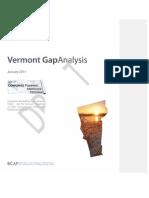 Vermont Gap Analysis Report - NETL Draft