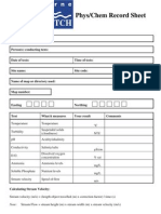melbourne waterwatch water quality monitroing sheet
