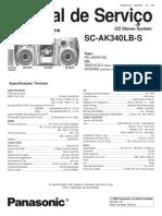 Panasonic Sc Ak340lb-s