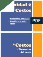 Elementos Del Costo y Clasificacion