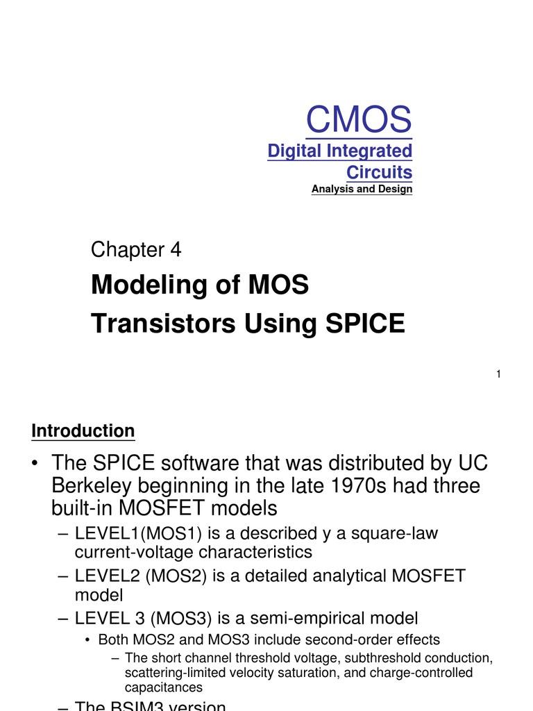 kang_chap4   Mosfet   Field Effect Transistor