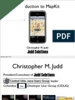 Chris Judd - Intro to MapKit