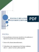 PLEURA Y RELACIONES CON EL PULMÓN