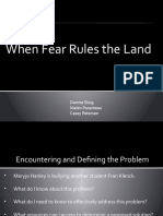 When Fear Rules the Land
