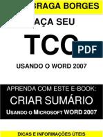 TCC - criando sumário