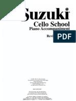 VIOLONCELO - MÉTODO - Suzuki Cello School - Volume 01 - Acomp. Piano