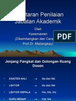 Perhitungan Jabatan Akademik