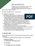 Ambulance Protocols