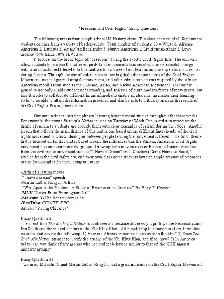 essay on civil rights