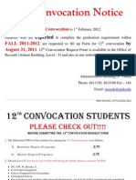 12th Convocation Notice