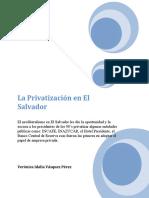 La Privatización en El Salvador