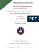 Abdul Hafeez-0501-Divedend Announcement, Security Performance