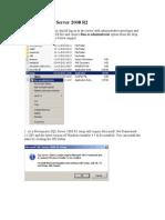 Installing SQL Server 2008 R2