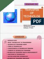 Transfer of Technology